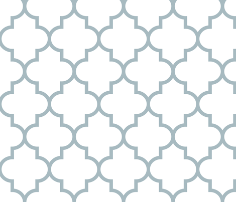 quatrefoil LG slate blue on white fabric by misstiina on Spoonflower - custom fabric