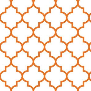 quatrefoil LG orange on white