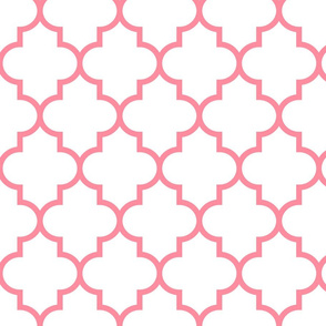 quatrefoil LG pretty pink on white