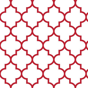 quatrefoil LG red on white