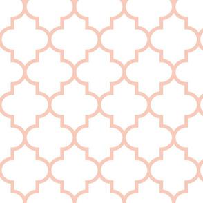 quatrefoil LG blush on white