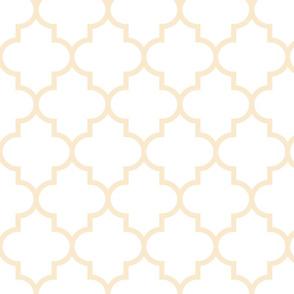 quatrefoil LG ivory on white