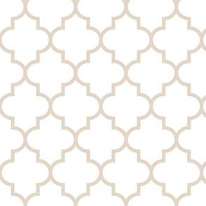 quatrefoil LG sand on white