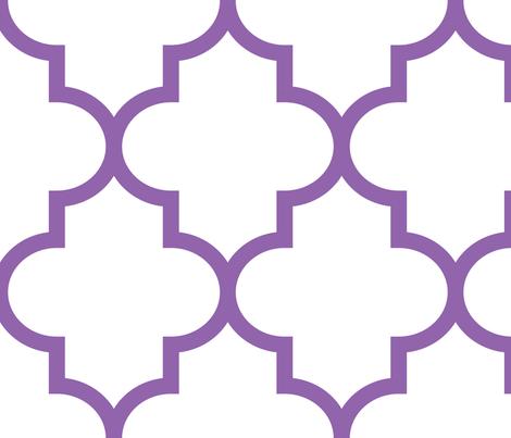 quatrefoil XL amethyst on white fabric by misstiina on Spoonflower - custom fabric
