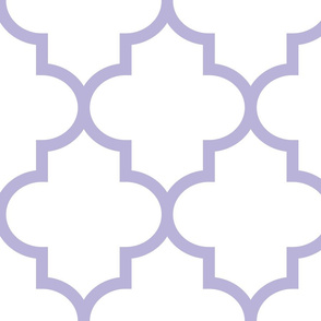 quatrefoil XL light purple on white
