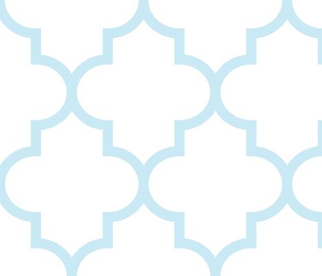 quatrefoil XL ice blue on white fabric by misstiina on Spoonflower - custom fabric
