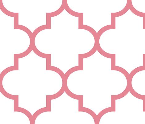 quatrefoil XL berry cream on white fabric by misstiina on Spoonflower - custom fabric