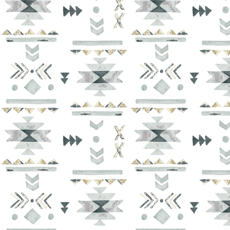 Tribal  fabric by mintpeony on Spoonflower - custom fabric