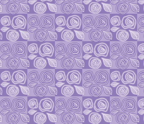 Phat Purple Rosy Flow fabric by shapeshifter_studios on Spoonflower - custom fabric