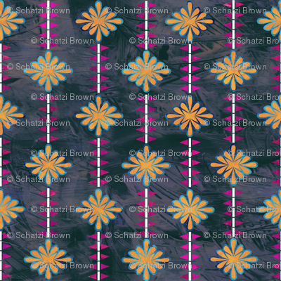 boho basic flower stripe 05c