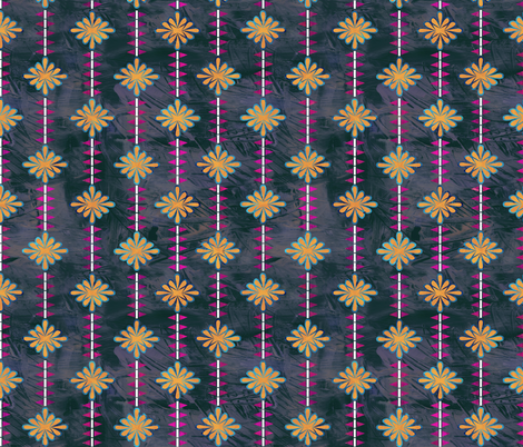 boho basic flower stripe 05c fabric by schatzibrown on Spoonflower - custom fabric