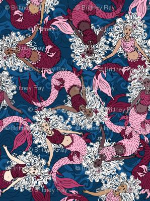 Mermaid Swirls Pink