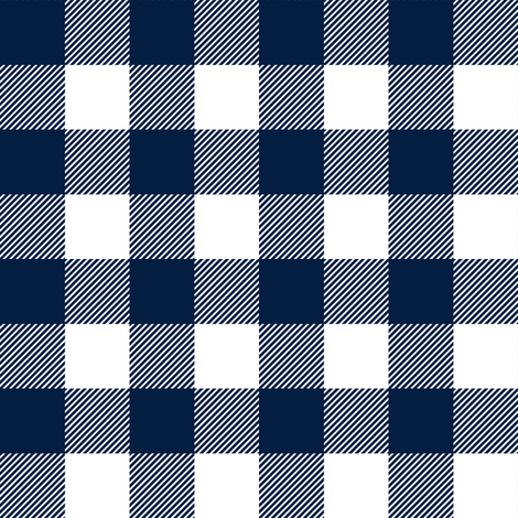 "1"" Navy check - plaid fabric by littlearrowdesign on Spoonflower - custom fabric"