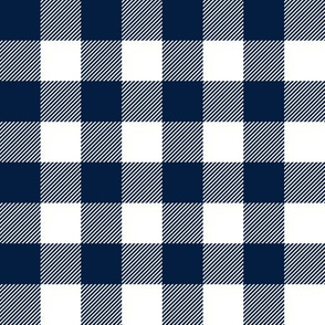 "1"" Navy check - plaid"