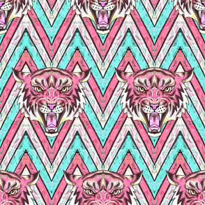 pink tiger chevron