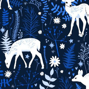 Woodland Deer - Navy