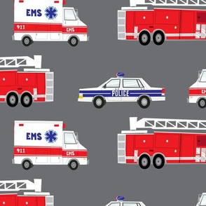 (large scale) first responders vehicles modified (grey) C18BS