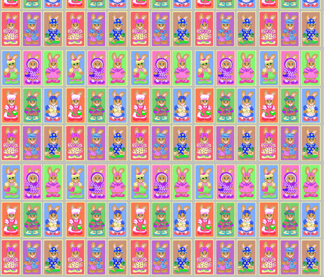 BUNNY QUILT TWO fabric by miki_kitti on Spoonflower - custom fabric