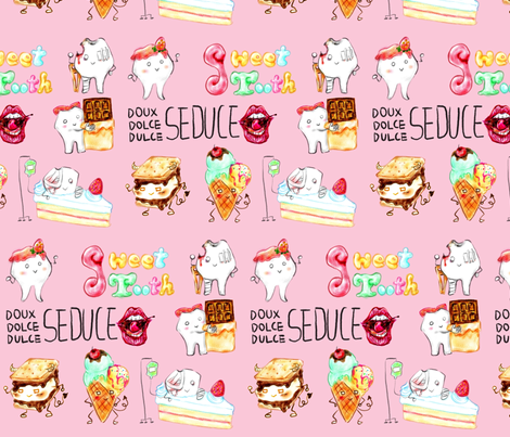Sweet Tooth fabric by candice_kim on Spoonflower - custom fabric
