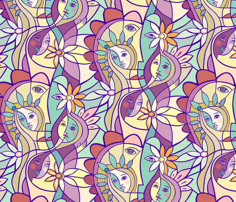 Sisterhood fabric by lily_studio on Spoonflower - custom fabric