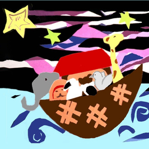 Noah's Ark under the stars.