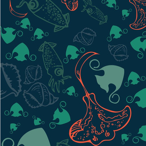 stingray & squids [3]