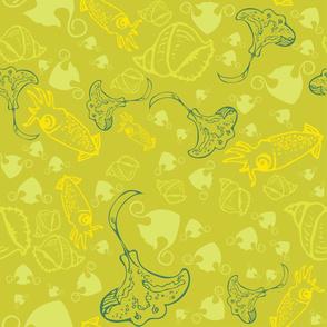 stingray & squids [4]