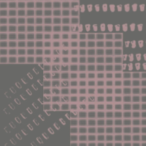 Pink and Gray Honeycomb Design