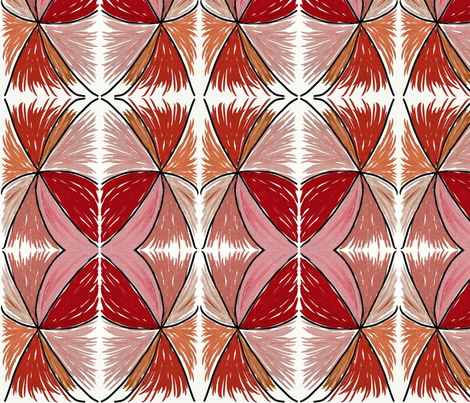 RedFeathers  fabric by rose_coit_designs_ on Spoonflower - custom fabric