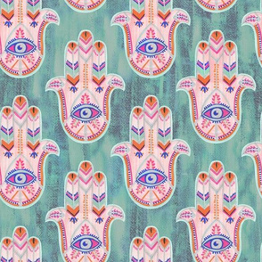 Hamsa Woman's Eye Mint