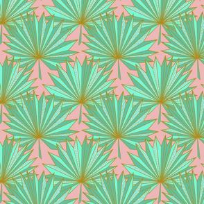Fan Ori-palm N1 (powder pink)