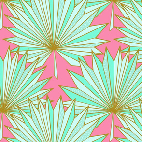 Fan Ori-palm N1 (rose pink)