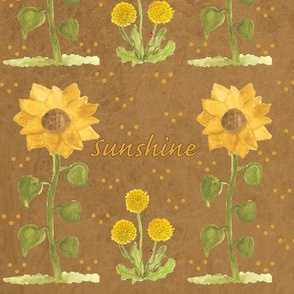 Sunshine with light brown textured background