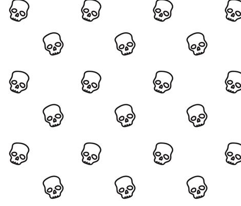 Skulls fabric by ireneflorentina on Spoonflower - custom fabric