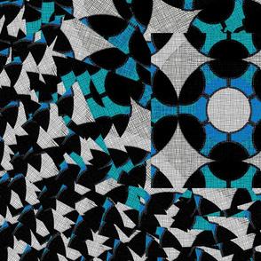 Blue Swirl Geo 3