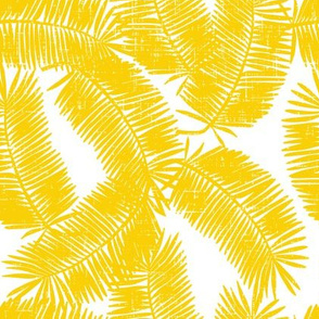 palm fronds in yellow