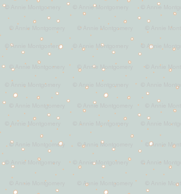 Polka Dots on Blue