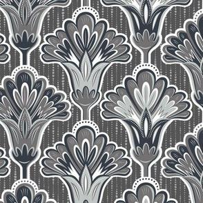 Folk Floral - Monochrome