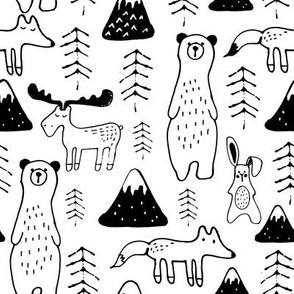 mono mountain- black and white