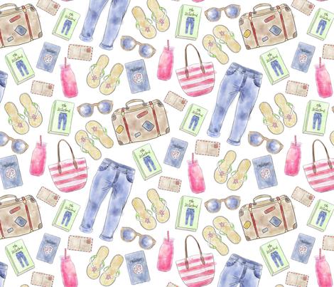 Sisterhood (inspired by The Sisterhood of the Travelling Pants) fabric by red_raspberry_designs on Spoonflower - custom fabric