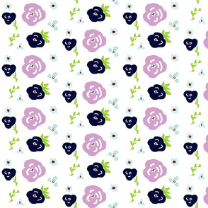 purple passion LG 525 garden flowers on white