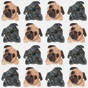 Small Pug Pattern