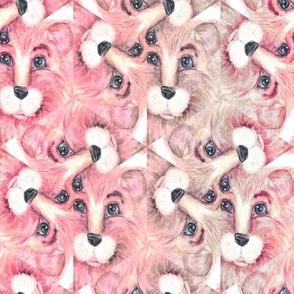 THE BLUE EYED CUTE FELINE PINK LION CAT SWIRL kaleidoscope
