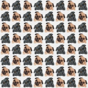 Extra small Pug pattern