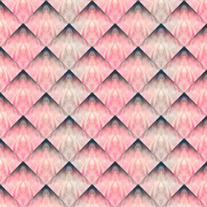 LOZENGES PINK NAVY TAUPE by PAYSMAGE