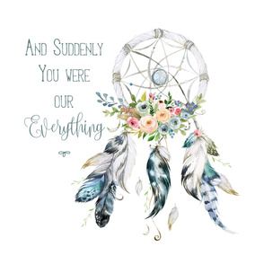 "2 to 1 Yard of Minky / 23"" Illustration / Suddenly You Were Everything Quote"
