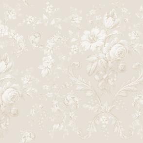 Faded Rococo belgian linen