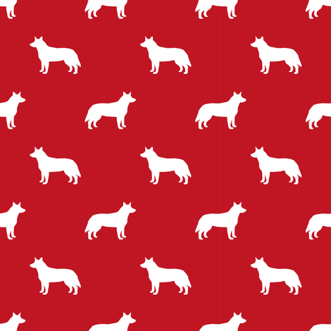 Australian Cattle Dog Pet Quilt A Cheater Quilt Silhouette