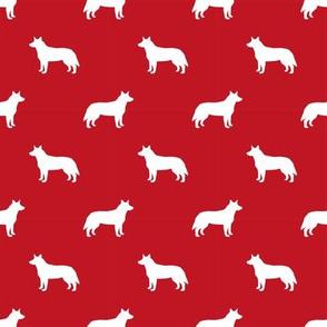 australian cattle dog pet quilt a cheater quilt silhouette coordinate fabric