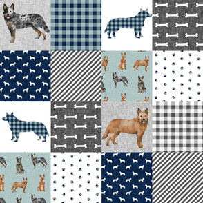 australian cattle dog pet quilt b cheater quilt wholecloth fabric